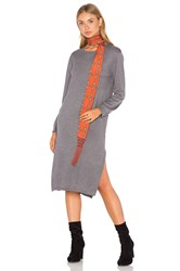 Knot Sisters Darrien Sweater Dress Gray