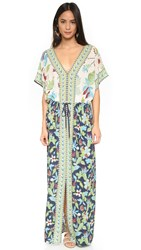 Tory Burch Long Caftan New Ivory Wisteria