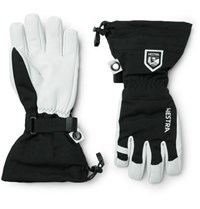Hestra Army Leather And Canvas Ski Gloves With Removable Liner Black