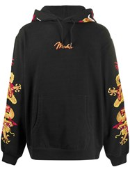 Mhi Maharishi Dragon Embroidery Hoodie Black
