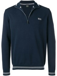 Hugo Boss Turtleneck Sweatshirt Blue