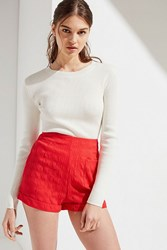 Urban Outfitters Uo Pansy High Waisted Short Red