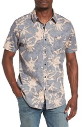 Rip Curl Men's Palm Time Reverse Print Woven Shirt Black