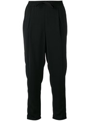 Sonia Rykiel By Drawstring Cropped Trousers Women Polyester 36 Black