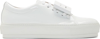 Acne Studios White Patent Leather Adriana Sneakers