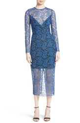 Diane Von Furstenberg Women's Embroidered Mesh Midi Dress