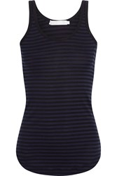 Kain Label Alta Striped Cotton Jersey Tank Blue
