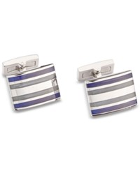 Ryan Seacrest Distinction Men's Cat's Eye Cuff Links Created For Macy's Silver