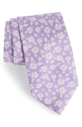 Southern Tide East Bay Hibiscus Silk Tie Lilac