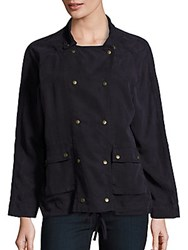 Saks Fifth Avenue Red Solid Long Sleeve Jacket Navy