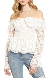 Stone_Cold_Fox Stone Cold Fox Wilshire Blouse White Lace