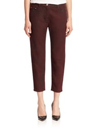3.1 Phillip Lim Distressed Saddle Jeans Ruby