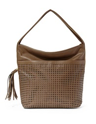 Big Buddha Bev Leatherette Hobo Bag Taupe