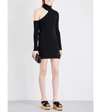 By Malene Birger Ayai Asymmetric Knitted Dress Black