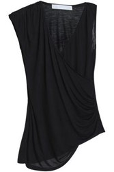 Kain Label Belle Draped Modal And Silk Blend Tank Black