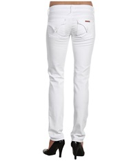 Hudson Collin Flap Skinny In White White Women's Jeans
