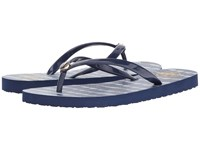 Tory Burch Classic Flip Flop Navy Sea Ziggy Women's Sandals Blue