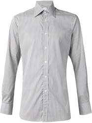 E. Tautz Fine Striped Shirt Grey