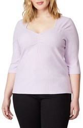 Rebel Wilson X Angels Plus Size Sweetheart Rib Knit Top Orchid