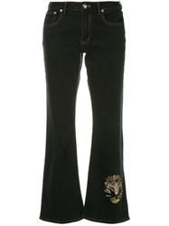 Sonia Rykiel Cropped Cat Jeans Black
