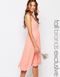 True Decadence Tall Plunge Front Open Back Prom Blush