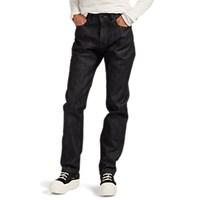Rick Owens Detroit Raw Selvedge Straight Jeans Blue