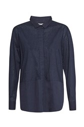 Great Plains Emma Embroidered Shirt Navy