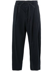 Attachment Elasticated Waist Trousers Blue