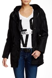 True Religion Faux Shearling Lined Longline Parka Black