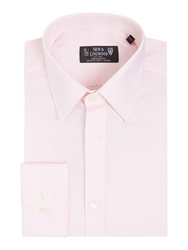New And Lingwood Wellington Royal Oxford Shirt Pink