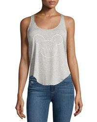 David Lerner Mickey Scoop Neck Tank Lt Heather