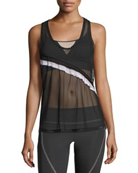 Koral Division Sheer Mesh Scoop Neck Performance Tank Black