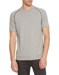 Kenneth Cole Short Sleeve Textured T Shirt Heather Grey