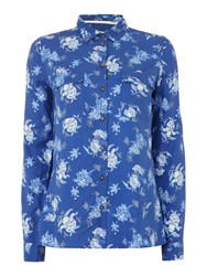 Barbour Susannah Wedgewood Print Shirt Navy