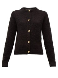 Versace Medusa Button Knitted Cardigan Black