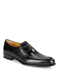 A. Testoni Lux Leather Slip On Shoe Nero