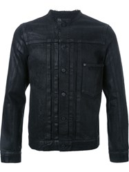 Hl Heddie Lovu Collarless Denim Jacket Black