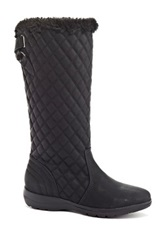 Fashion Focus Brooks Faux Fur Trim Boot Black