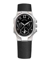Philip Stein Teslar Classic Chronograph Watch On Black Calf Strap