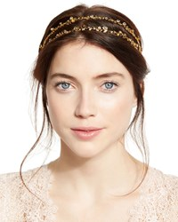 Jennifer Behr Coralie Crystal Double Head Wrap Gold