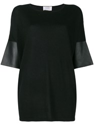 Snobby Sheep Cropped Sleeve Top Black