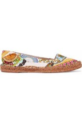 Dolce And Gabbana Printed Jacquard Espadrilles Multicolor