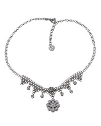 Pasquale Bruni 18K White Gold Diamond And Sapphire Flower Necklace Women's