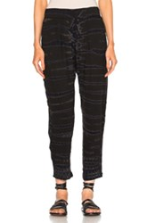 Raquel Allegra Easy Pant In Black Ombre And Tie Dye Black Ombre And Tie Dye