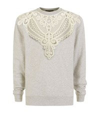 Burberry Runway Embroidered Cut Out Sweatshirt Male Grey