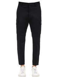 Dsquared 16.5Cm Admiral Stretch Cotton Pants Black