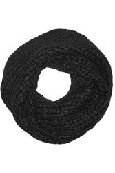 Helmut Lang Cable Knit Snood Black