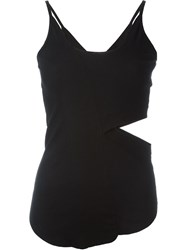 Lost And Found Cut Out Tank Top Black