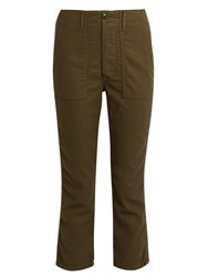 The Great Gusset Low Slung Cropped Trousers Khaki