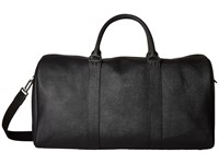 Jack Spade Barrow Leather Duffel Black